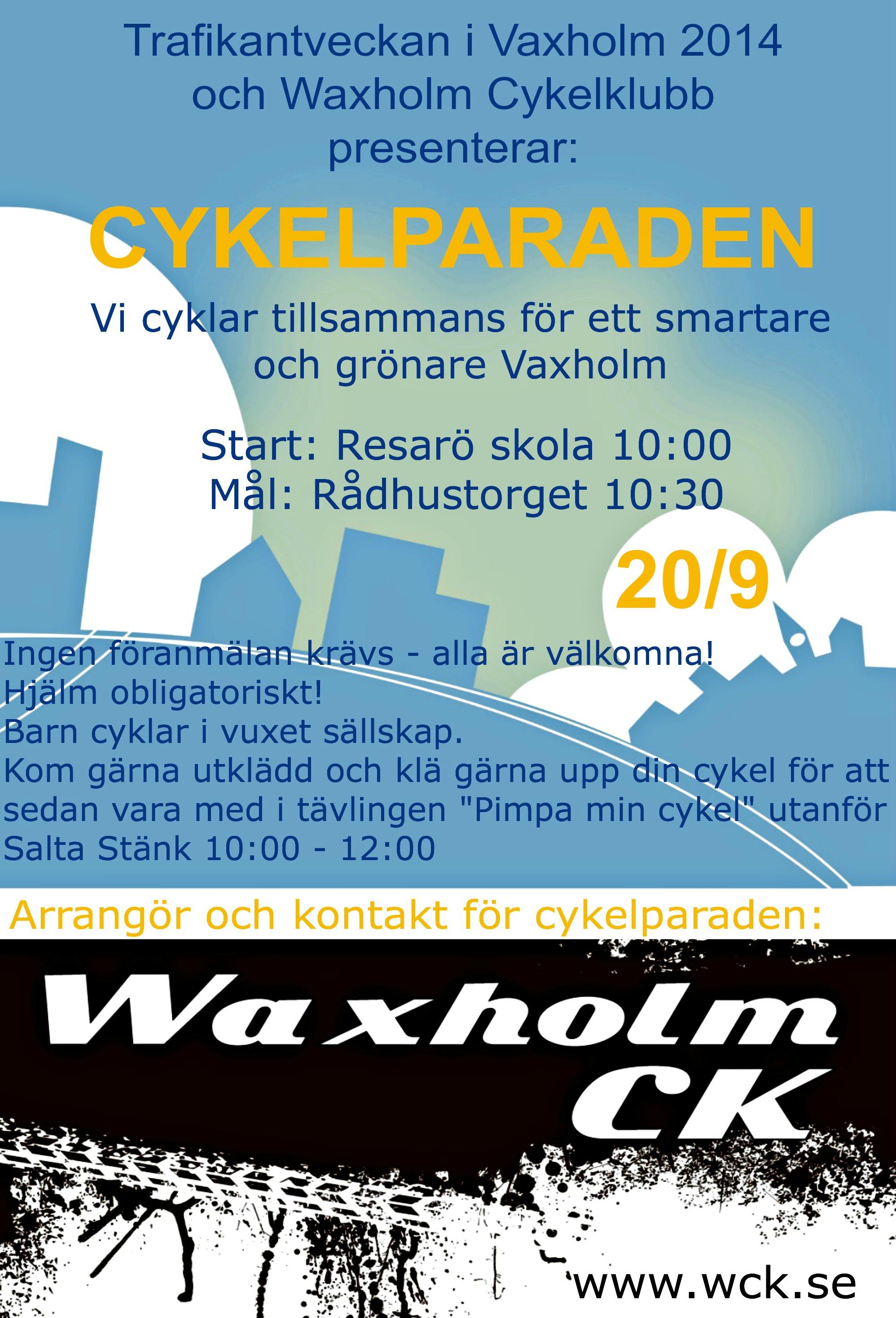 Cykelparaden - Trafikantveckan Vaxholm